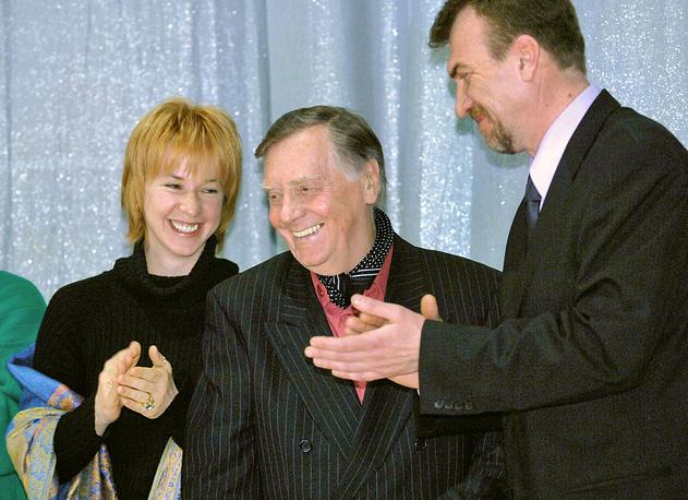 Актеры Алла Клюка, Анатолий Кузнецов и кинорежиссер Владимир Морозов, 2006 год