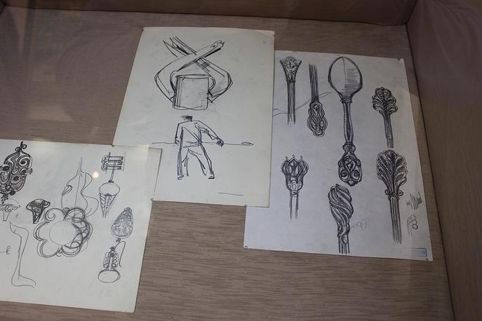 Эскизы ювелирных изделий и наброски автора