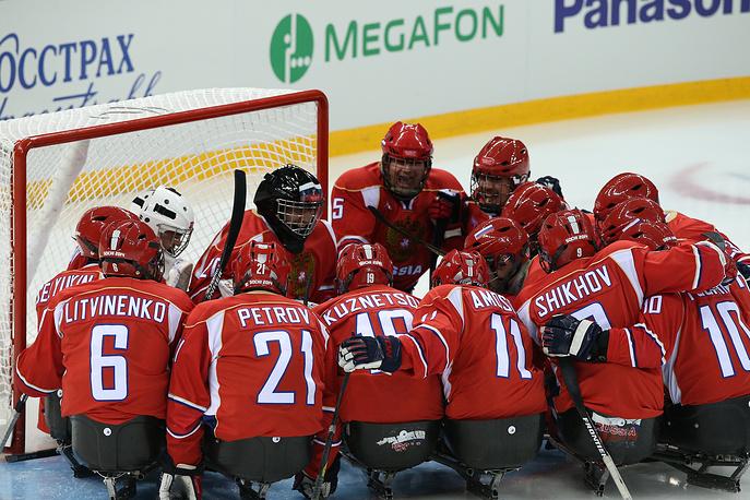 Финальный матч между сборными России и США по следж-хоккею