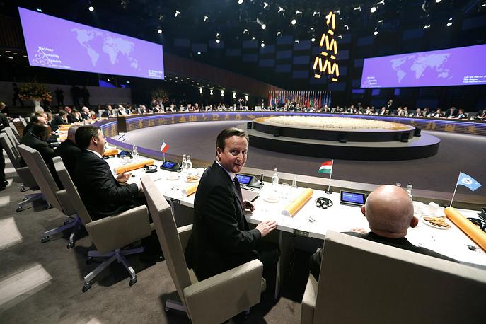 Премьер-министр Великобритании Дэвид Кэмерон. Саммит по ядерной безопасности в Гааге. 24 Марта 2014 года