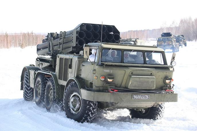 Боевые стрельбы артиллерийских соединений Центрального военного округа