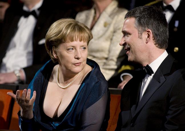 Канцлер Германии Ангела Меркель и Йенс Столтенберг