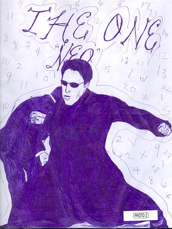 """Ошеломляющий успех ленты дал толчок многочисленным творениям фанатов по всему миру. На фото: рисунок """"вашингтонского снайпера"""" Ли Бойд Мальво в зале суда, 2003 год"""