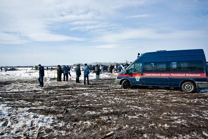 Следственные работы на месте крушения самолета ATR-72