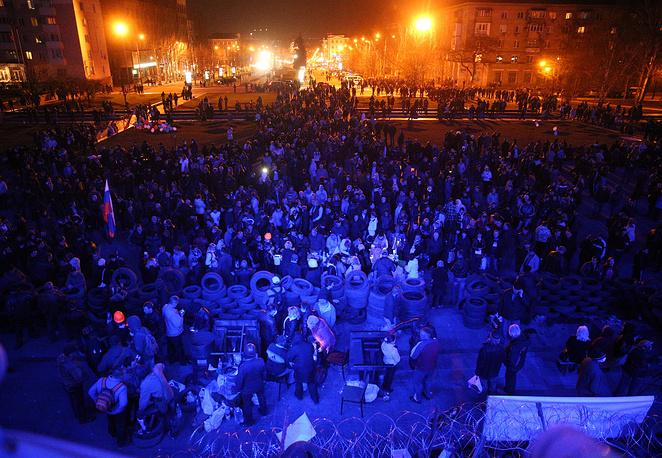 Донецк, ночь на 8 апреля 2014 года