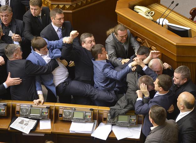 Драка в парламенте Украины, 8 апреля 2014 года