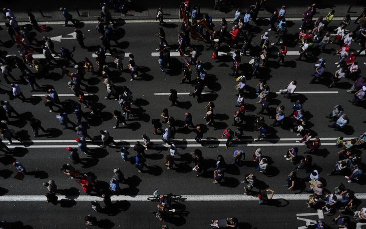 Демонстранты в Барселоне выступили против ухудшения экономической ситуации в стране