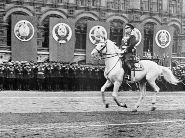 Маршал Советского Союза Георгий Жуков на Параде Победы, 24 июня