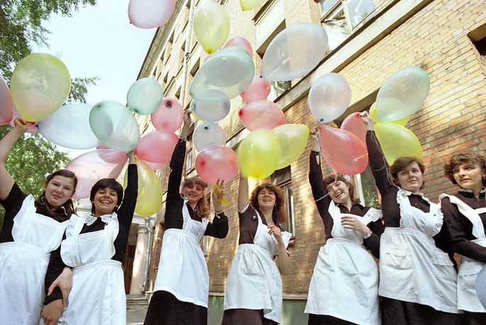 Последний звонок в школе № 710 города Москвы, 1983 год