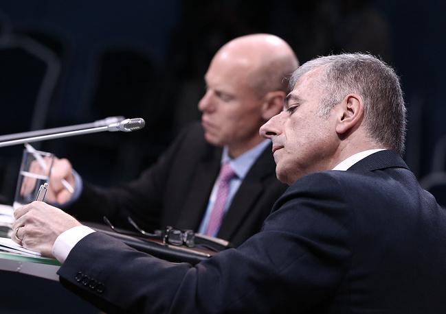 """Вице-президент по работе с государственными организациями по странам ЕМЕА Microsoft Джо Макри во время конференции """"Мегаполисы как фактор экономического роста: смена ориентиров"""""""