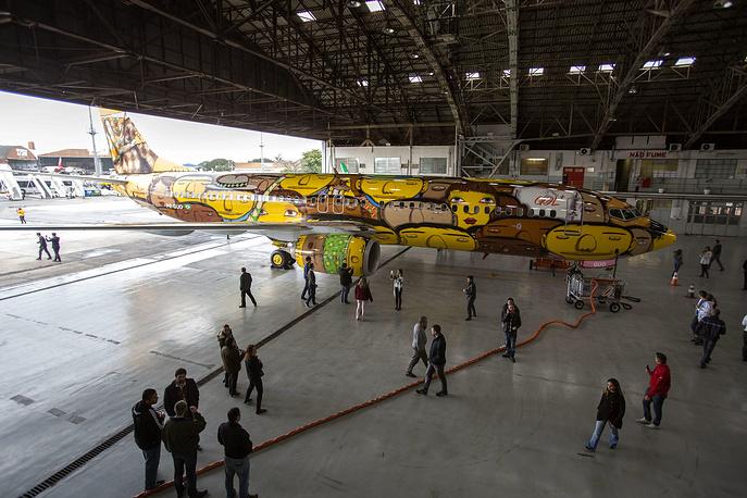 Самолет предназначен для перелетов сборной Бразилии по футболу во время чемпионата мира по футболу-2014