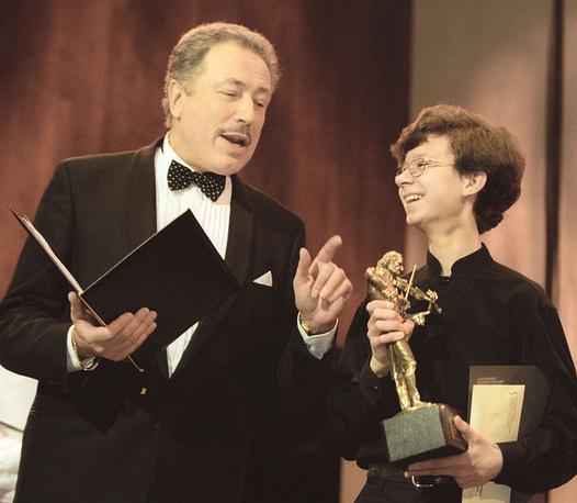 Святослав Бэлза и Евгений Свиридов на Московском конкурсе скрипачей имени Никколо Паганини, 2003 год