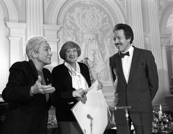 Мария Пиа Фанфани, Иветта Воронова и Святослав Бэлза, 1991 год