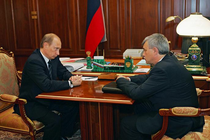 Рабочая встреча Владимира Путина и Георгия Полтавченко. 2005 год