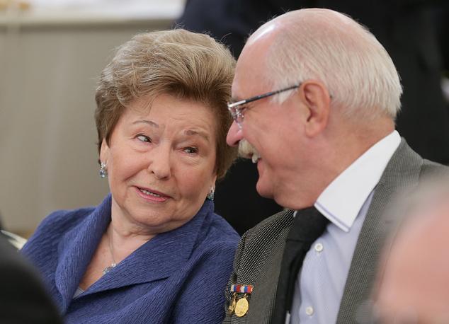 Вдова первого президента России Наина Ельцина и режиссер Никита Михалков
