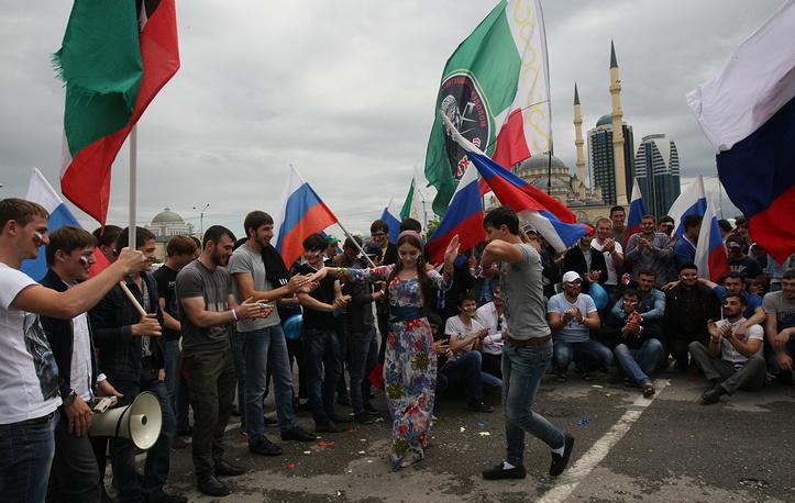 Праздничные мероприятия в честь Дня России в Грозном
