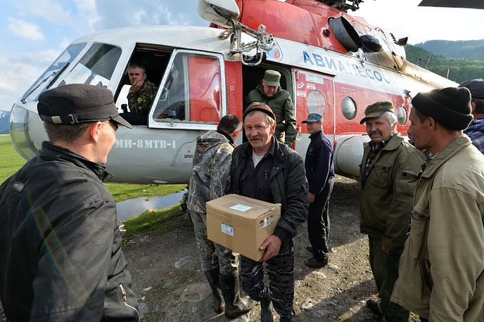 Поставка гуманитарного груза в пострадавшие регионы