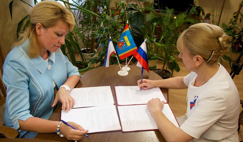Подписание соглашения о сотрудничестве между Департаментом культуры Тюменской области с Администрацией Черноморского района Республики Крым