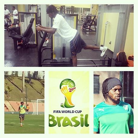 Футболисты сборной Кот-д'Ивуара предпочитают делать коллажи в Instagram. Автор этого - Жервиньо