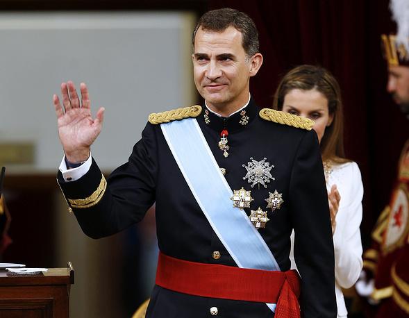 Фелипе VI после произнесения речи на заседании парламента