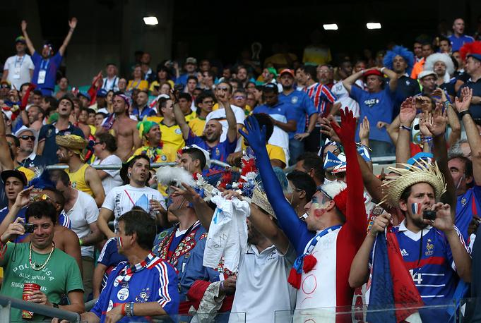 Ликование поклонников сборной Франции