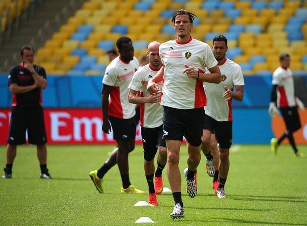 Тренировка сборной Бельгии