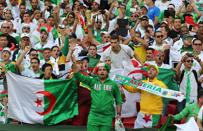 Фанаты сборной Алжира