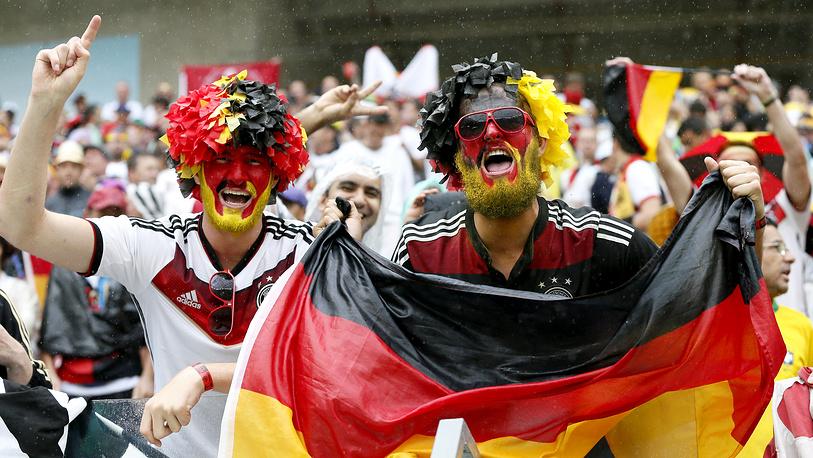 Бородатые болельщики сборной Германии