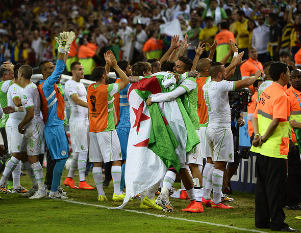 Радость алжирской команды
