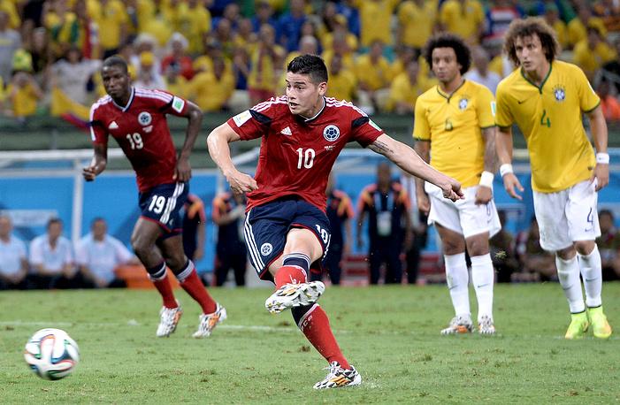Хамес Родригес отличился в пятом матче подряд, но его команда вылетела с чемпионата мира