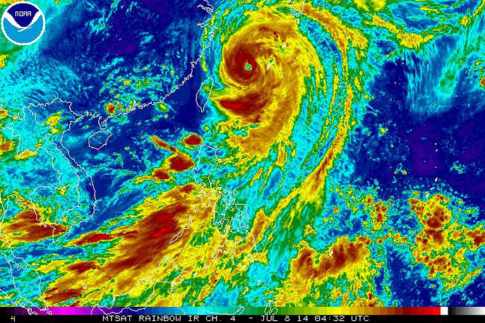 "Спутниковый снимок тайфуна ""Неогури"""