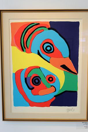 Попугаи. Карел Аппель. Шелкография. 1971 год