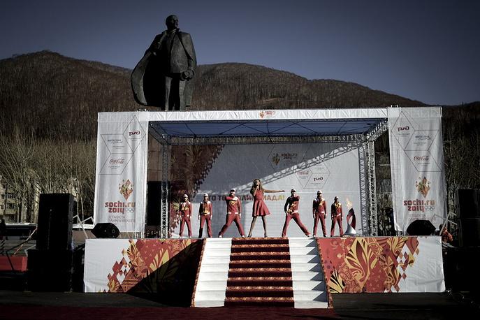 Петропавловск Камчатский. Уличный концерт на главной площади города