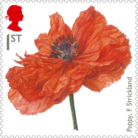 В Великобритании выпущены марки с маками по случаю 100-летней годовщины начала Первой мировой войны