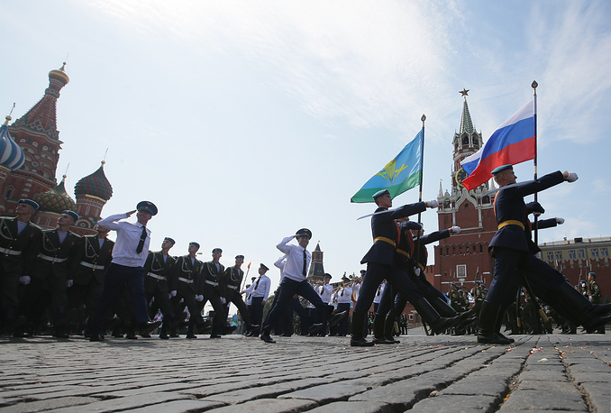 Парад ВДВ на Красной площади