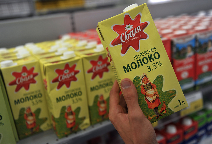 Литовская молочная продукция (на подобную продукцию  пришлось 1,3% прошлогоднего потребления)