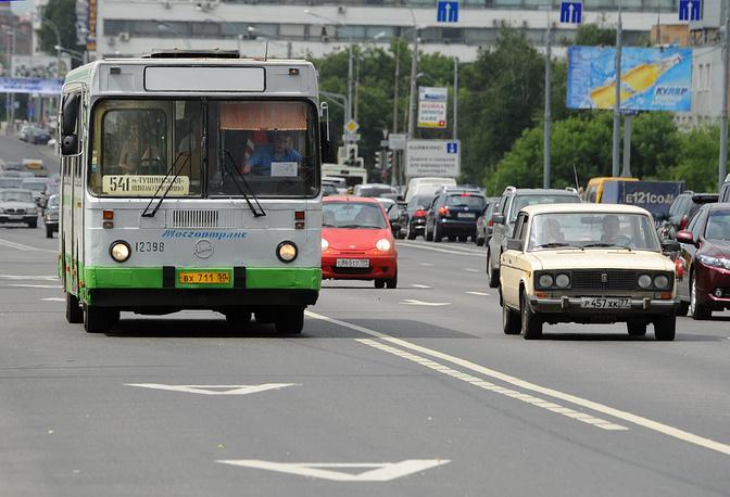 Выделенные полосы для общественного транспорта в Москве, 2011 год