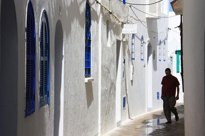 Центр Асилы - одно из самых ухоженных мест во всем Марокко