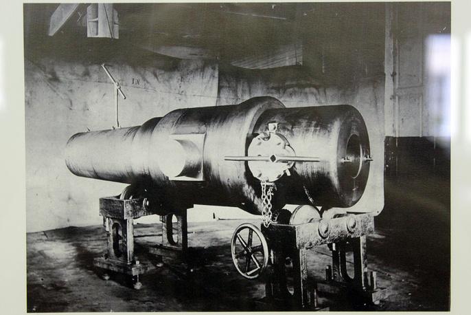 Образец артиллерийского орудия, выпускавшегося на Пермских пушечных заводех накануне и в ходе Первой мировой войны. 1915 год