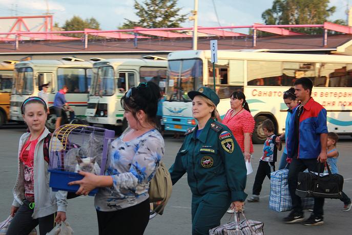 МЧС, МВД, администрация Кемеровской области организовали координацию прибывших беженцев и сопровождение их до пункта размещения