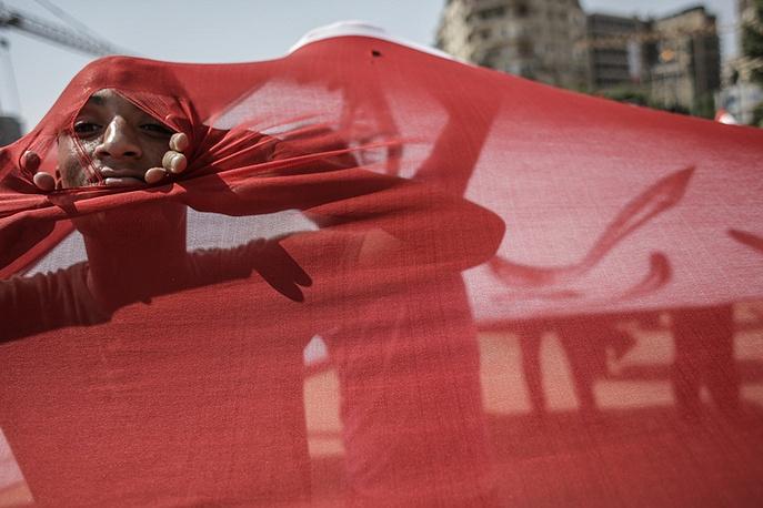 Противники президента Мохаммеда Мурси на площади Тахрир, Египет, 2013 год