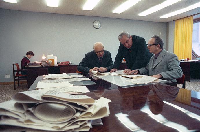 Главный выпуск главной редакции для заграницы в ТАСС, 1978 год