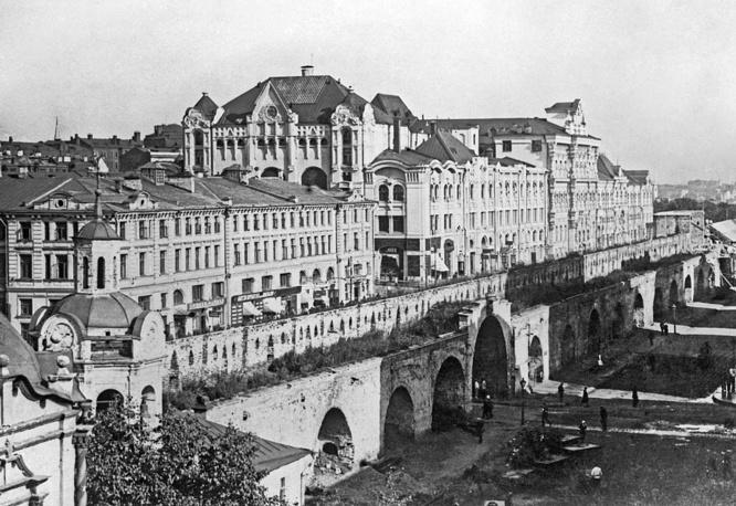 Китайгородская стена со стороны Новой площади, 1926 год