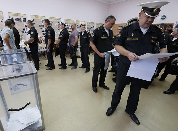 Около 40 тыс. моряков и служащих Черноморского флота проголосовали в Севастополе