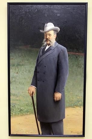 Портрет Василия Солдатенкова. Николай Богданов-Бельский. Холст, масло. 1898 год
