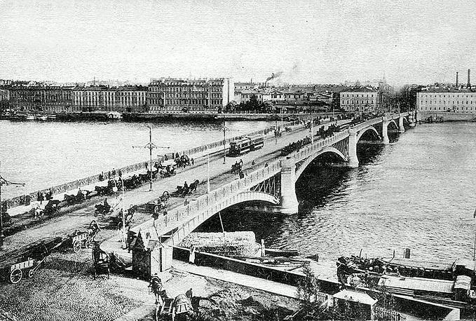 Литейный мост в Петрограде,почтовая открытка,1900-е