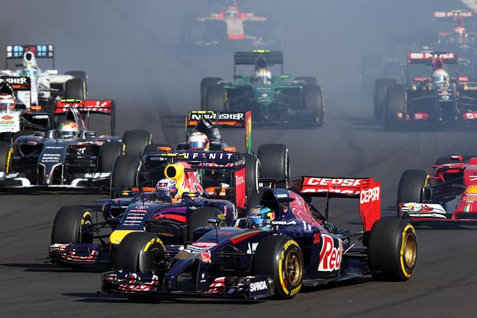 Во время гонки Гран-при