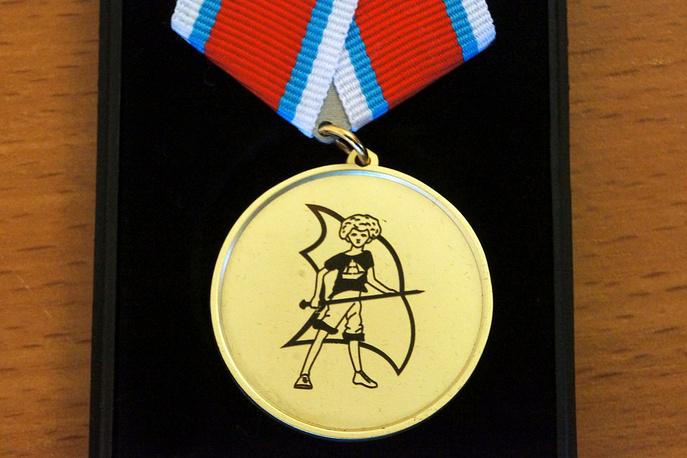 Медаль Международной литературной премии имени Крапивина