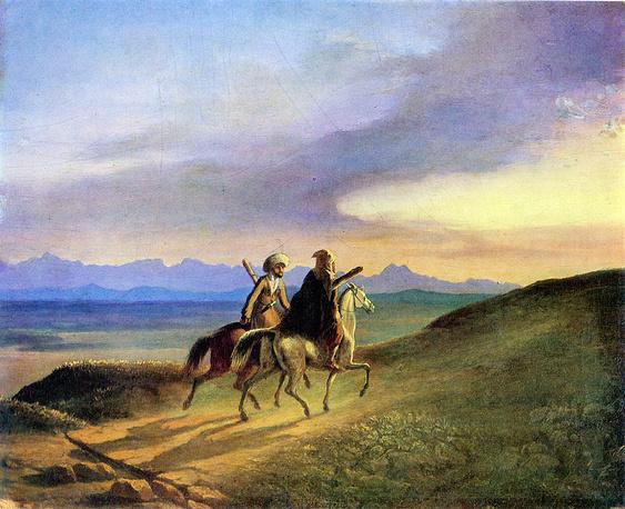 """""""Воспоминание о Кавказе"""" (масло, 1837)"""