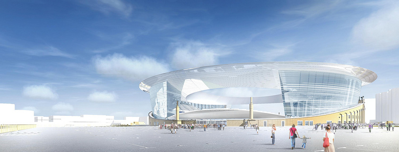 3d-модель Центрального стадиона Екатеринбурга после реконструкции